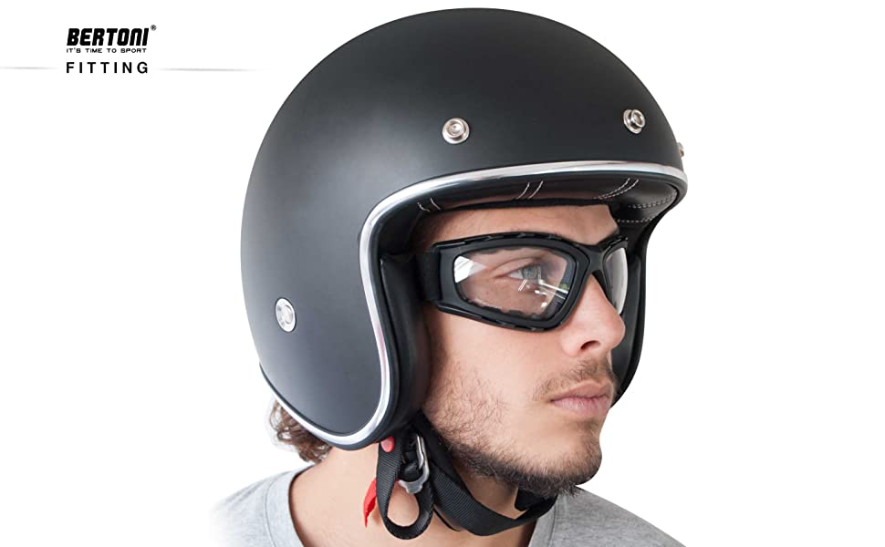 Bertoni Photochromic Motorcycle Goggles F120