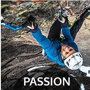 Man Rock Climbing with Trango Climbing Gear