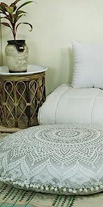 Hippie Mandala Bohemian Ombre Floor Pillow cushion puof Cover