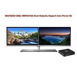 dual screen minitor support z83-w mini pc