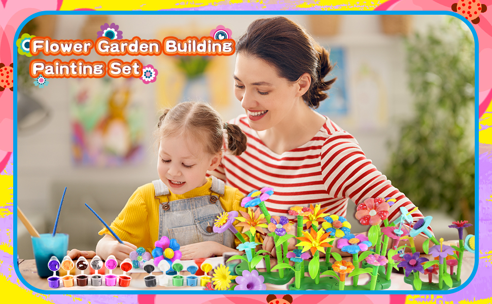 2 IN 1 Flower building Painting Set