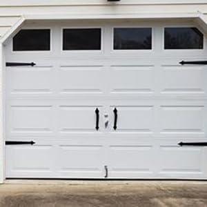 Ultra Life Light Magnetic Decorative Carriage Style Garage Door Accent Trim Hardware 4 Hinges 2 Handles Amazon Com