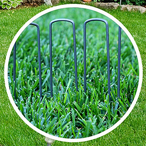 6-Inch Garden Landscape Staples Stakes Pins USA Weed Barrier Soaker Hose Lawn Drippers Irrigation