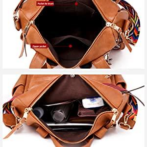 backpack inside