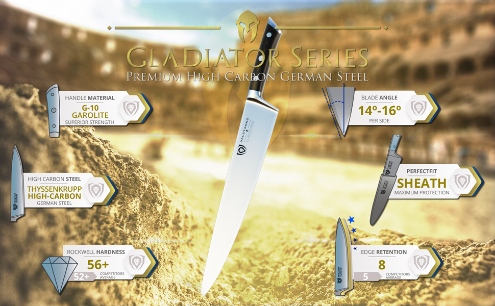 dalstrong chef knife professional gladiator series mighty obliterator meat cleaver high carbon steel