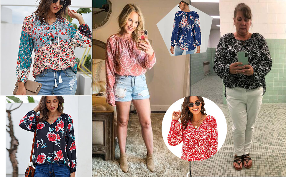 bohemian chiffon blouse
