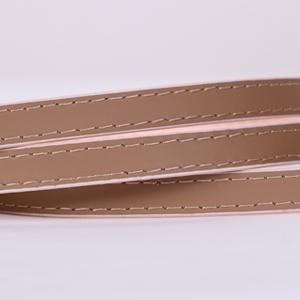 pantent leather women skinny belt