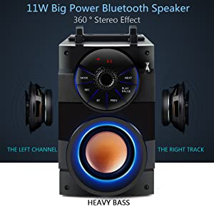 11w Big Power Bluetooth Party Speakers