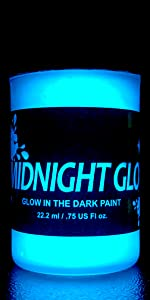 Glow in the dark paint aqua