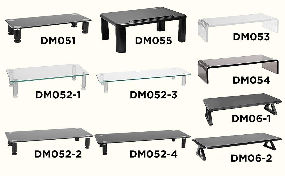 range, dm051, dm052-1, dm052-2, dm052-3, dm052-4, dm053, dm054, dm055, dm06-1, dm06-2, risers, stand