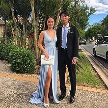 Sky Blue Prom Dress Long