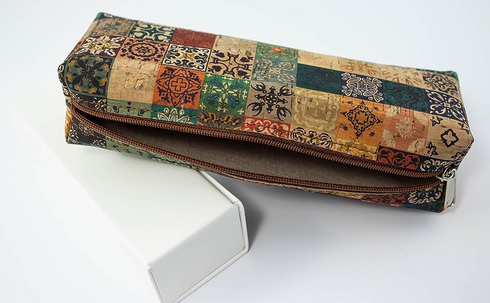 Estuche lapicero de corcho natural fabricado a mano en España (ECORC-05): Amazon.es: Oficina y papelería