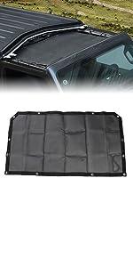 Sunshade Mesh Shade Top Cover Polyester Durable Sun Shade for JL Plain Black