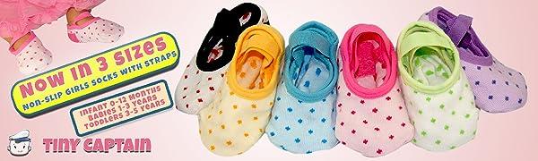 infant newborn baby toddler girls strap socks ages year baby shower rainbow  kids children gripper