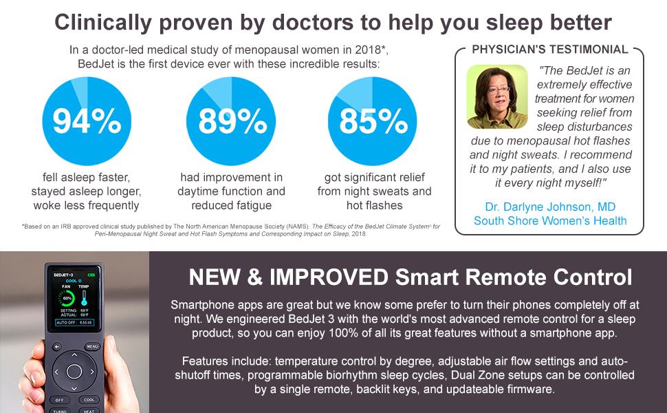 BedJet menopause night sweats bed cooling system BedJet 3 mattress topper pad smartduvet