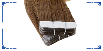 Human hair extensions tape in