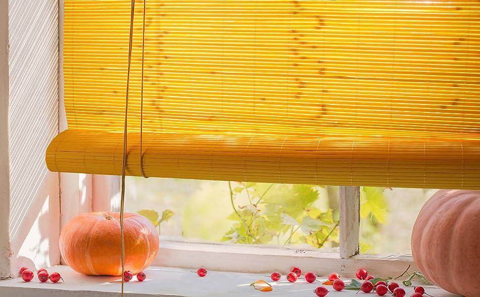 Store Bambou 60 x 160 cm Cerise sans pr/é-per/çage pour lint/érieur Store en Bambou avec syst/ème Klemmfix Victoria M