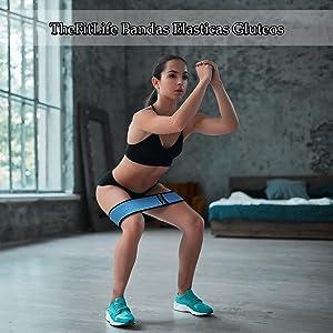 TheFitLife - Bandas de botín para cadera y glúteo, banda de resistencia de tela para mujer con diseño elástico antideslizante para esculpir la forma ...