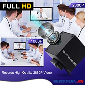 Varifocal lens usb camera 8MP usb webcam mini camera