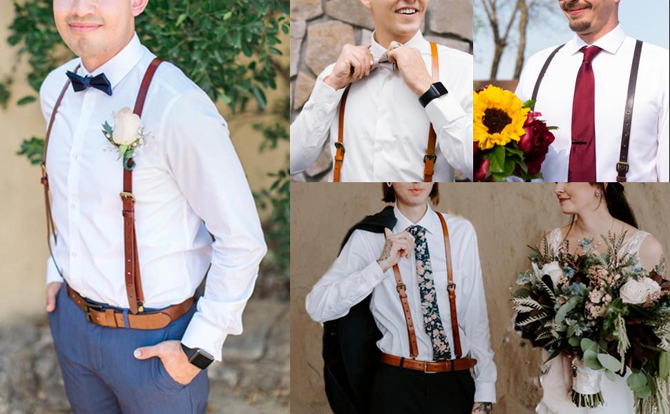 Blush light pink suspenders Suspenders men Leather suspenders Rustic wedding Groom suspenders Wedding suspenders Groomsmen suspenders