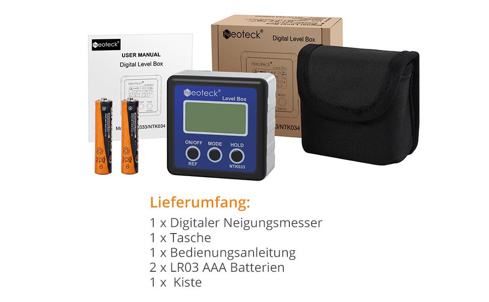 Mini Digital Neigungsmesser Level Box Winkelmesser Winkel Finder Anzeige Magnet