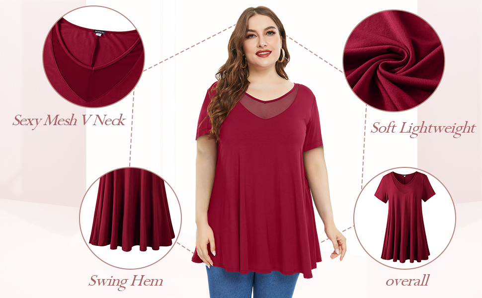 plus size tunics for women