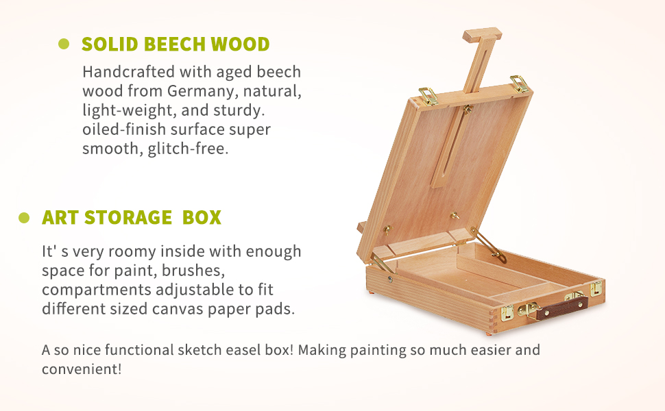 sketchbox tabletop easel well built, sturdy & stable Ships fully assembled