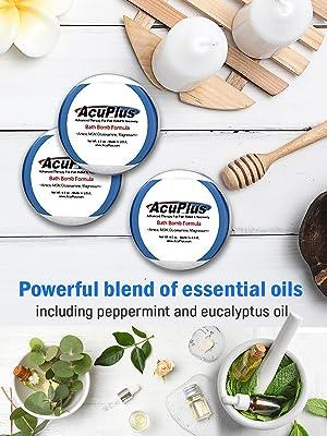 AcuPlus Pain Relief Bath Bombs