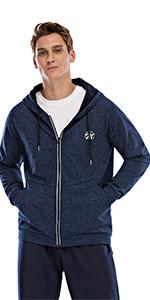 Men's fleece hooded jacket