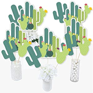 Prickly Cactus Party Mexican Fiesta Baby Shower Birthday Table Topper Centerpiece