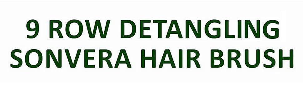 Sonvera new 9 rows bamboo hair brush