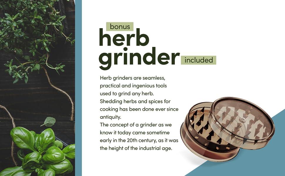 Bonus! Herb Grinder.