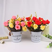 Artificial Roses with Pot