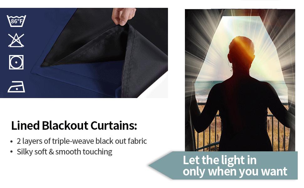 double layer blackout curtains Blackout curtains  100% blackout curtains
