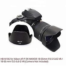 Combo HB-N106 & HB-77 Lens Hood10