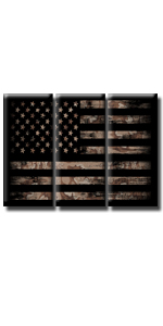 native american flag black and white patritic man cave living room star stripe  4th of July memorial