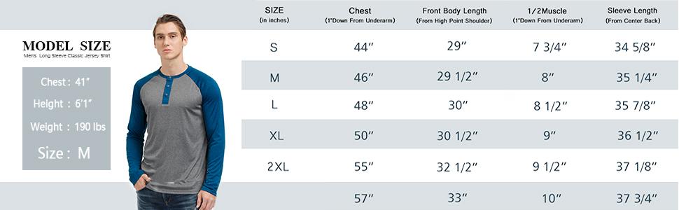 Mens Long Sleeve Raglan Henley Shirts Baseball T-Shirt Lightweight Thin Fabric