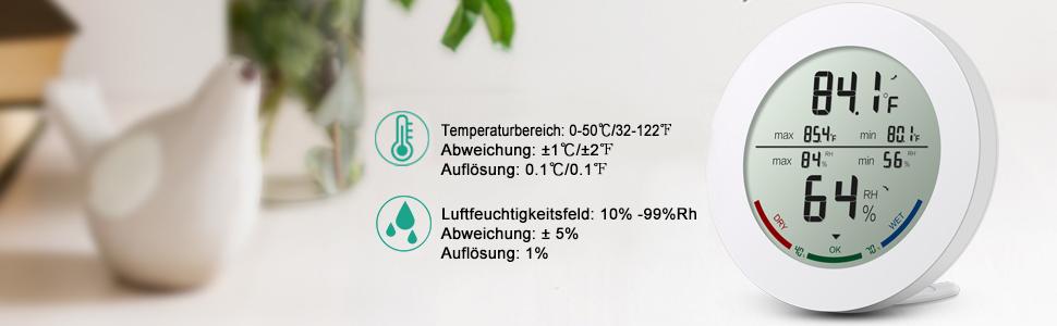 Hygrometer-thermometer