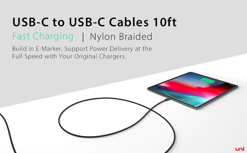 usb c to usb c cable 10ft