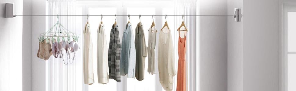 Hisome Corde de séchage pour vêtements