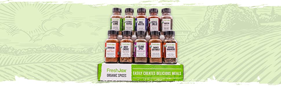 FreshJax Organic 10 Pack Meat Lovers Spice Blends