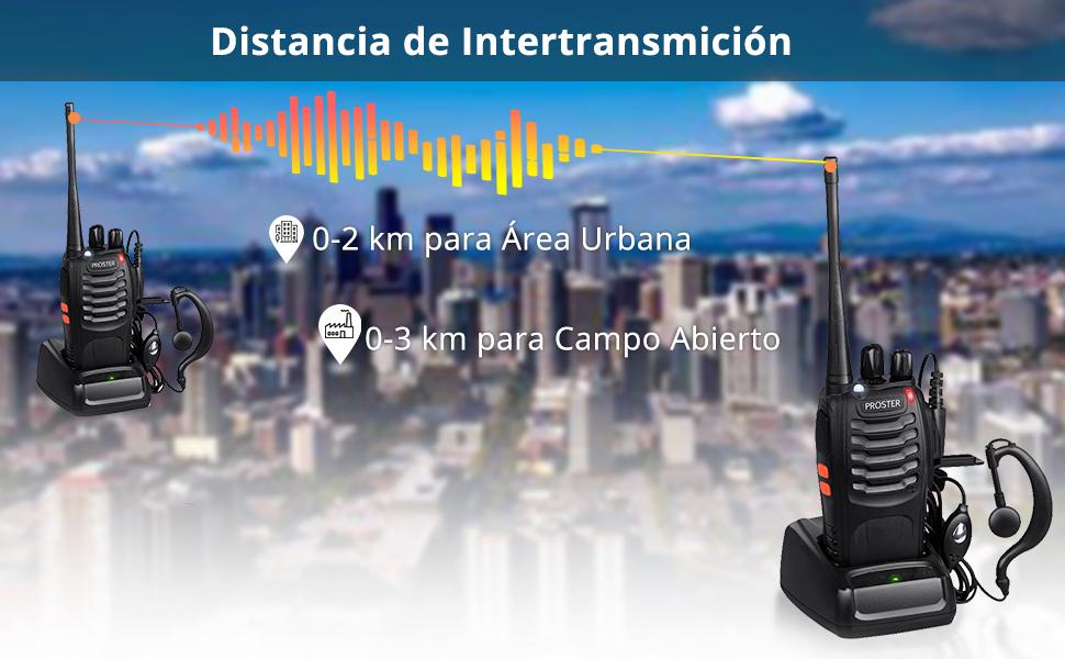 walkies talkies recargables