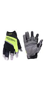 fingerless work gloves
