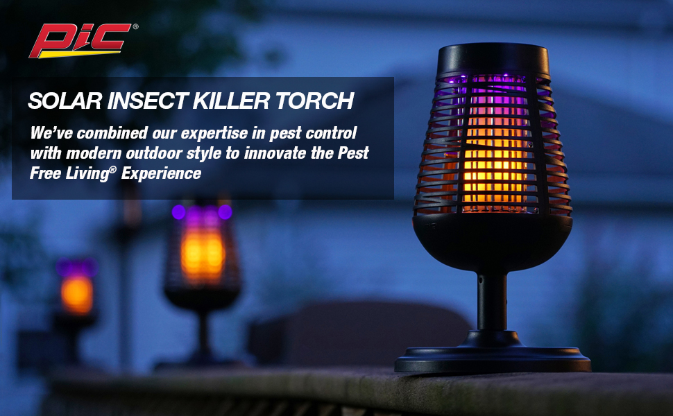 insect killer torch, solar, pic
