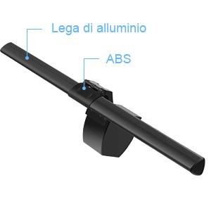 6 Livelli di Luminosit/à Anpro Lampada da Scrivania 5 Temperature di Colore Lampada da Tavolo e Ufficio in Metallo con Porta USB Ricarica per Smartphone Funzione Memoria Timer di 60 Minuti