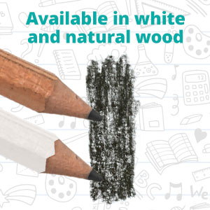 available in white and natural wood
