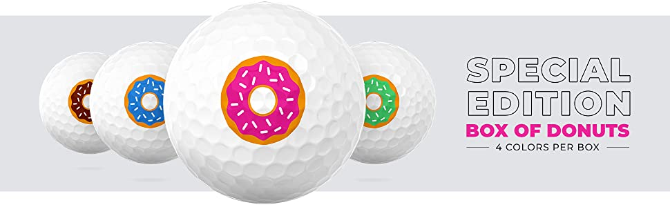 Tour Golf Balls. Special Edition, Donuts