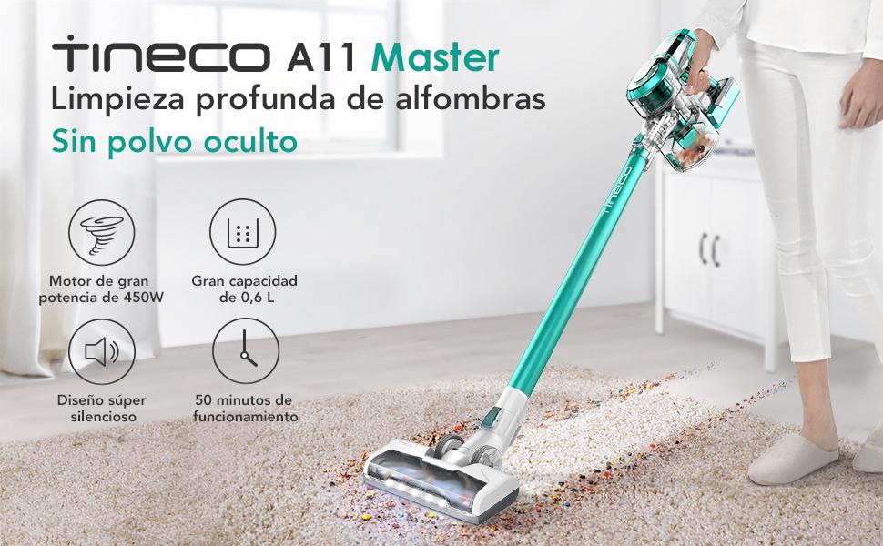 Tineco A11 Master Aspiradora sin Cable,vertical y de mano, 450W ...