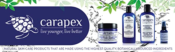Carapex Banner Natural Skincare Products Botanically Sourced