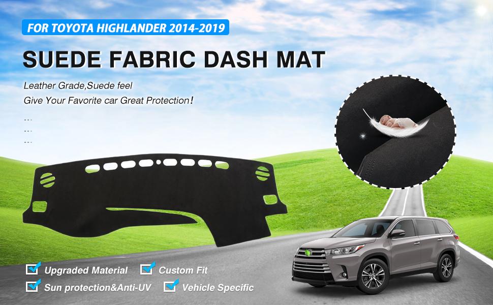 Cartist Dashboard Mat Cover Dash Cover Nonslip Dashboard Mat Protector Sunshade No Glare for Toyota RAV4 2019 2020
